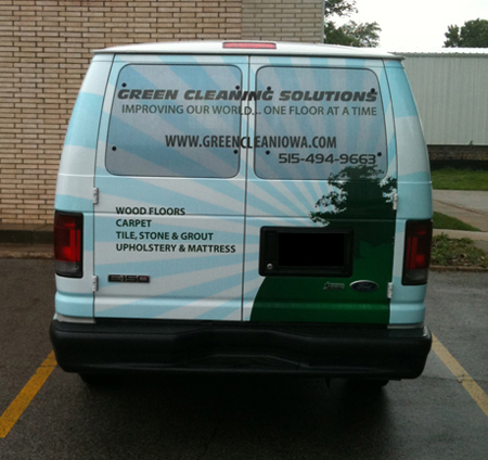 Van Vehicle Graphic Wrap Window Graphic Perforated